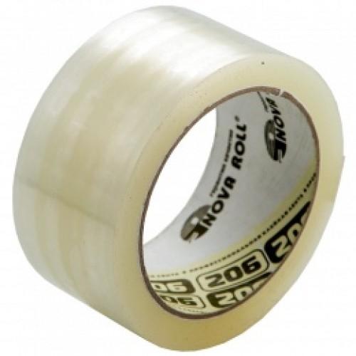 Скотч (клейкая лента) прозрачный 50мм*66 м 50мкм