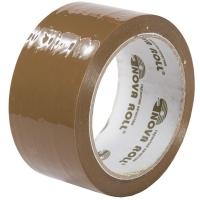 Скотч «Нова Ролл» коричневая  48мм*66м,  43мкм