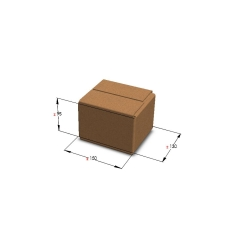 Картонная коробка 150*130*95 мм Т-23 бурый