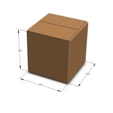 Картонная коробка 200*200*200 мм Т-23 бурый