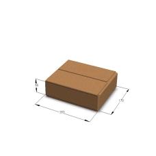 Картонная коробка 203*170*55 мм Т-23 бурый