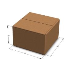 Картонная коробка 250*250*150 мм Т-23 бурый