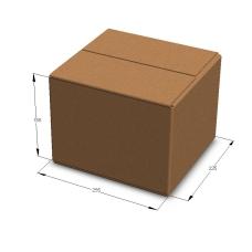 Картонная коробка 255*235*185 мм Т-23 бурый