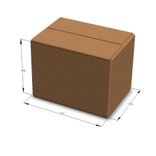 Картонная коробка 270*190*195 мм Т-23 бурый