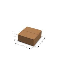 Картонная коробка №3 330*330*132 мм Т-23 бурый