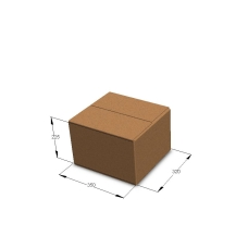 Картонная коробка 350*320*225 мм Т-24 бурый