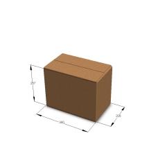 Картонная коробка №27 380*228*287 мм Т-23 бурый