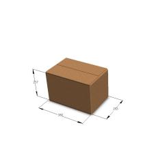 Картонная коробка №7 380*253*237 мм Т-24 бурый