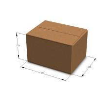 Картонная коробка №17 380*285*228 мм Т-23 бурый