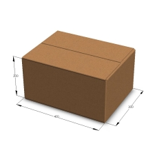 Картонная коробка 400*300*200 мм Т-23 бурый