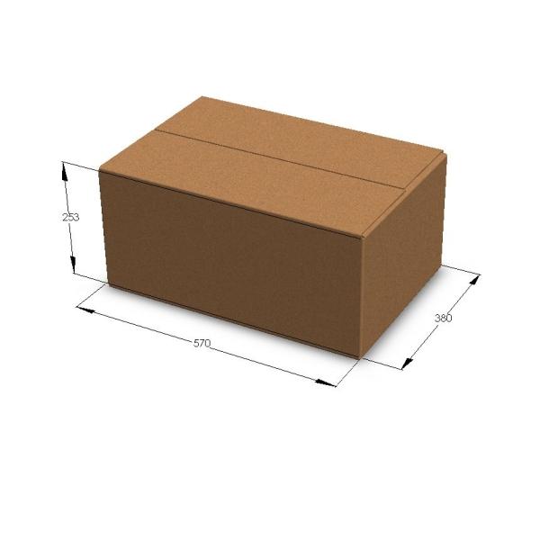 Картонная коробка №40 570*380*253 мм Т-26 бурый