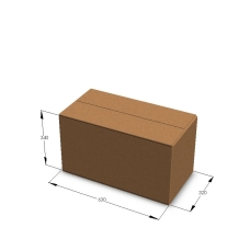 Картонная коробка №18 630*320*340 мм Т-23 бурый