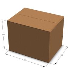 Картонная коробка 800*600*600 мм П-33 бурый