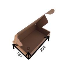 Картонная коробка 294*187*72 мм бурый