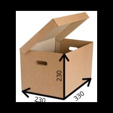 Короб архивный с крышкой 330*230*230 A4, Т-23