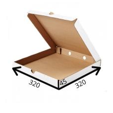 Коробка для пиццы 32*32*4.5 см (белая)