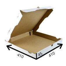 Коробка для пиццы 41*41*4.5 см (белая)