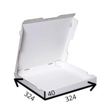 Коробка для пиццы 32,4*32,4*4 см (белая) из микрогофрокартона