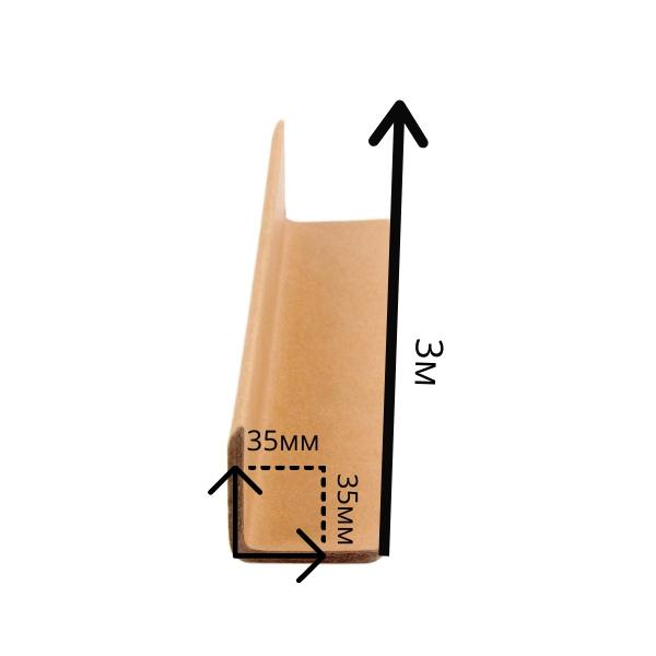 Уголок защитный 35*35*4мм - 3м