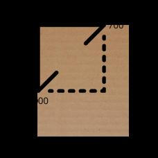 Лист микрогофрокартона 700*1000 мм (бурый)