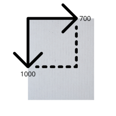 Лист микрогофрокартона 700*1000 мм (бело-бурый)
