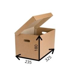 Короб архивный с крышкой 325*235*180 A4, Т-23