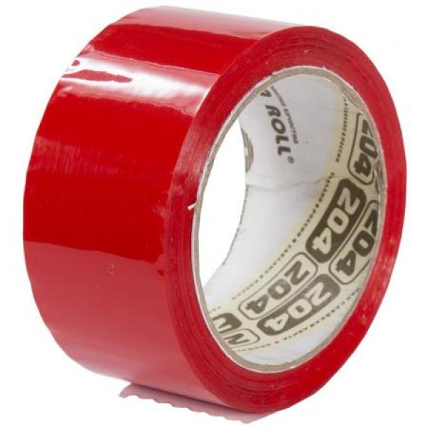 Скотч красный, «Нова Ролл» - 48мм*66м, 43 мкм