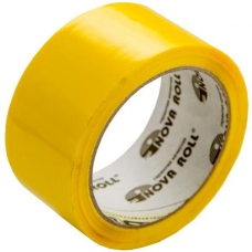 Скотч желтый, «Нова Ролл» - 48мм*66м, 43 мкм
