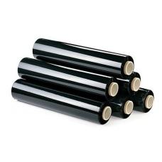 Чёрная стрейч пленка для ручной упаковки 23 мкм * 50 см * 190 м, 2 кг