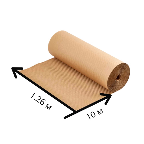 Двухслойный гофрокартон ширина 1.26 м - 10 п/м