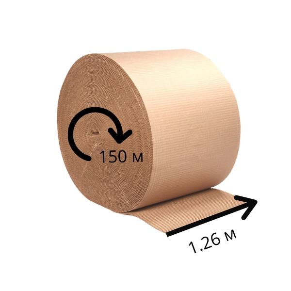 Двухслойный гофрокартон ширина 1.26 м - 150п/м