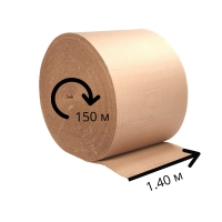 Двухслойный гофрокартон ширина 1.4 м - 150п/м