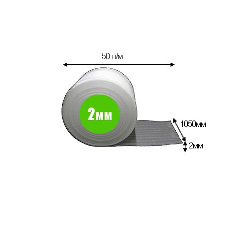 Вспененный полиэтилен толщиной 2 мм (шириной 1.05м)