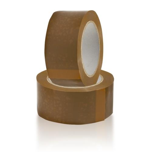 Широкий коричневый скотч 75мм*66 м, 45 мкм