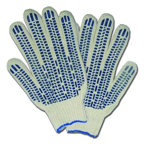 Перчатки х/б  5 нитей с ПВХ